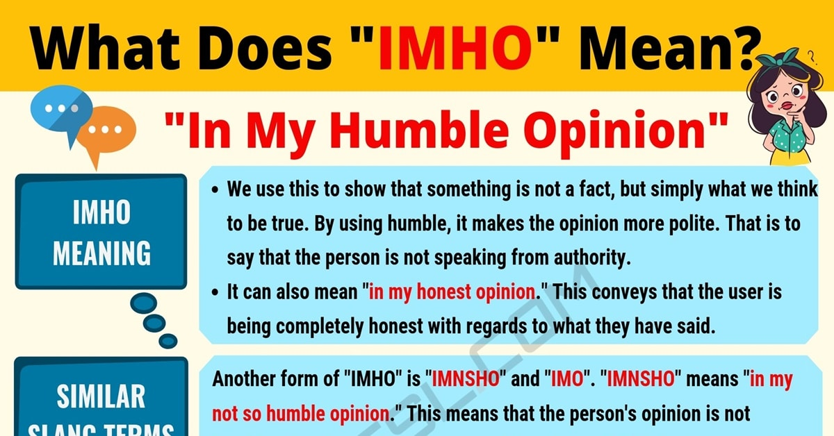IMHO Meaning: What Does IMHO Mean? Useful Text Conversations 1