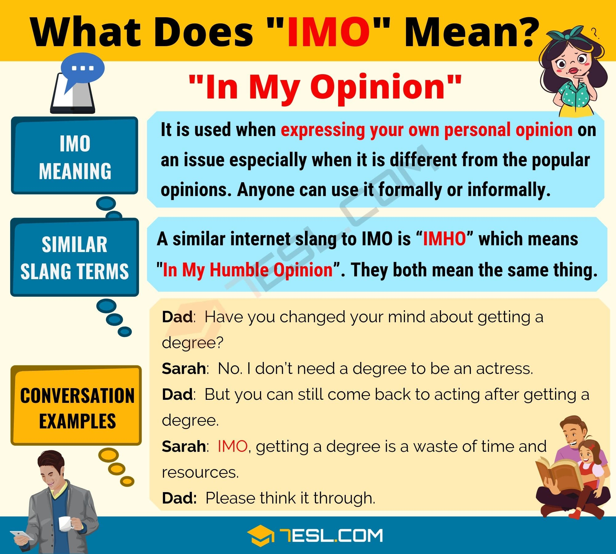 IMO Meaning: What Does IMO Mean? Text Conversation Examples