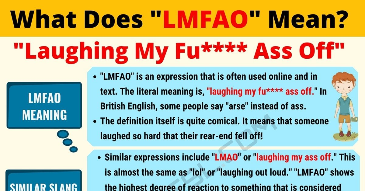 LMFAO Meaning: What Does LMFAO Mean? 1
