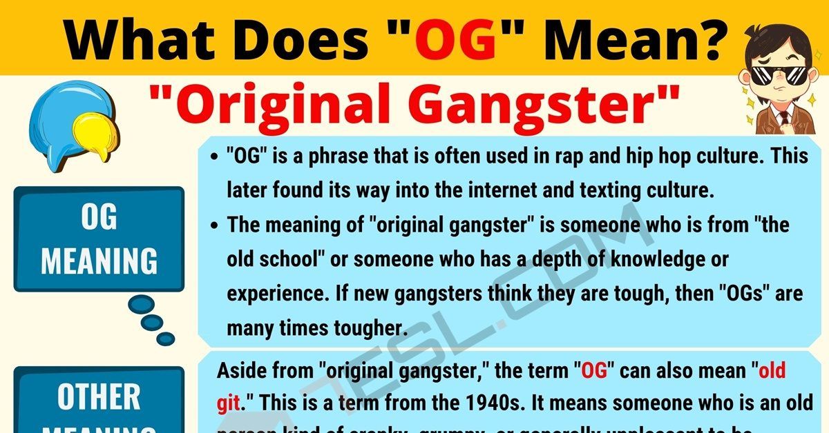 OG Meaning: What Does OG Mean? Interesting Text Conversations 1