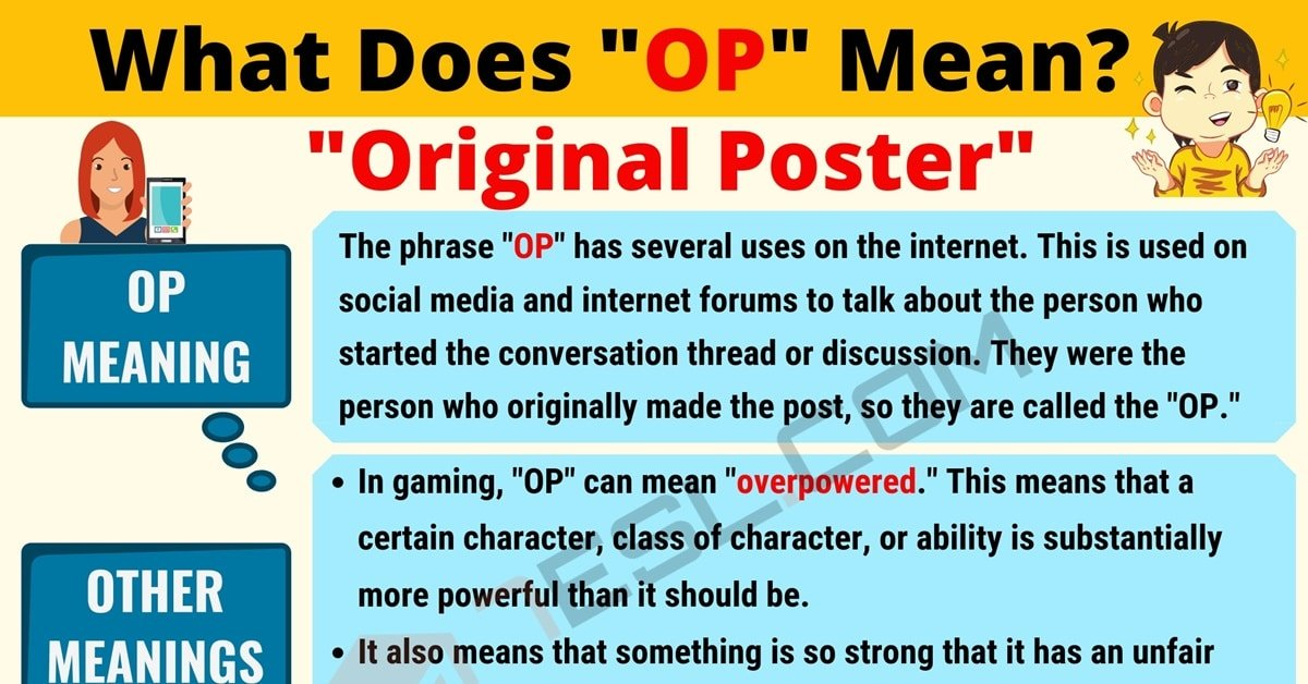 OP Meaning: What Does OP Mean? Interesting Text Conversations 1