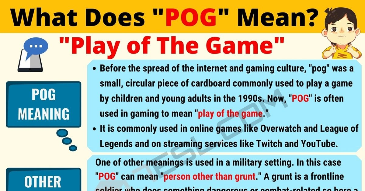 Pog Meaning | What Does Pog Mean and Stand for? (with Cool Examples) 1