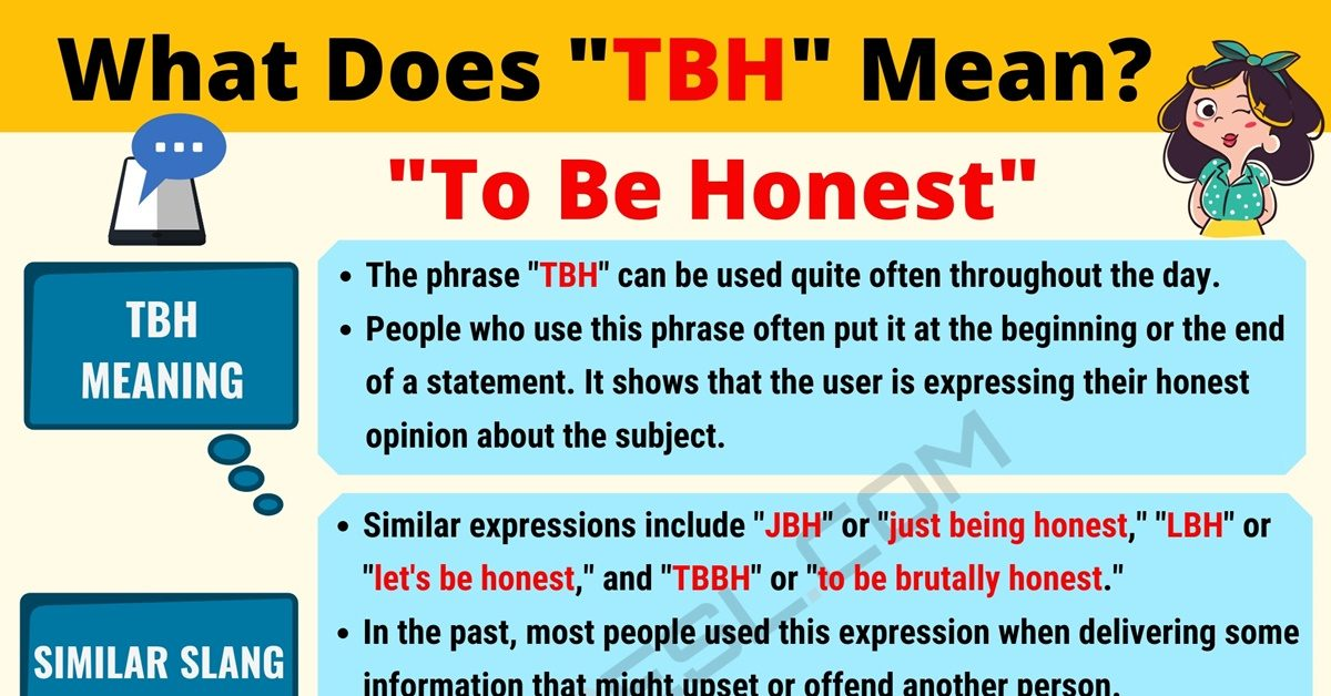 TBH Meaning: What Does TBH Mean? Useful Text Conversations 1