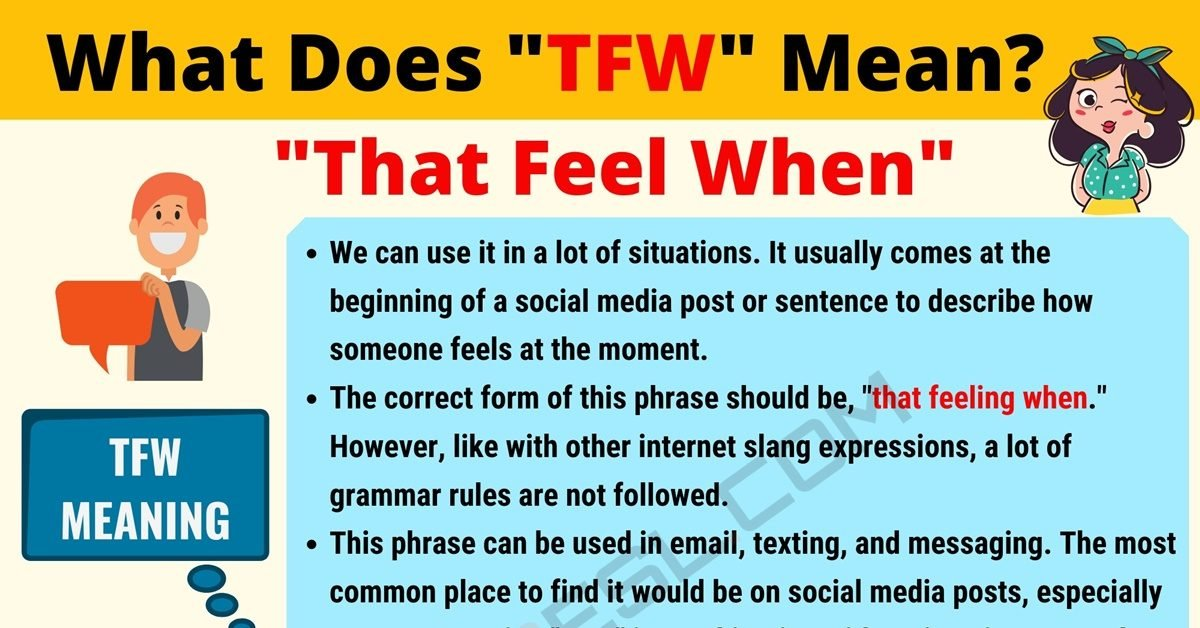 TFW Meaning: What Does TFW Mean? Interesting Text Conversations 1