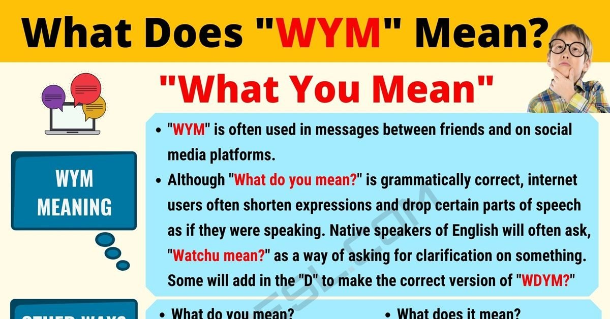 WYM Meaning: What Does WYM Mean? Useful Text Conversations 1