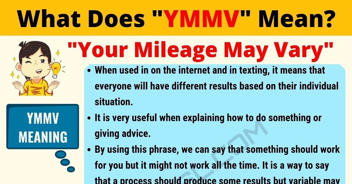 YMMV Meaning: What Does YMMV Mean? Text Conversations 1