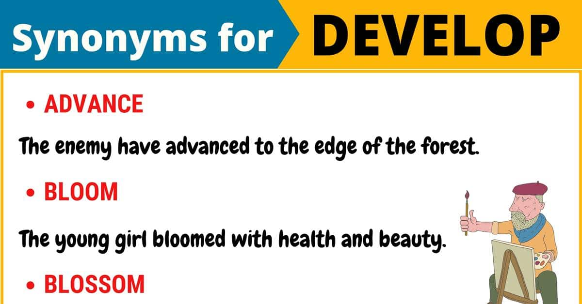 """Another Word for """"Develop"""" 