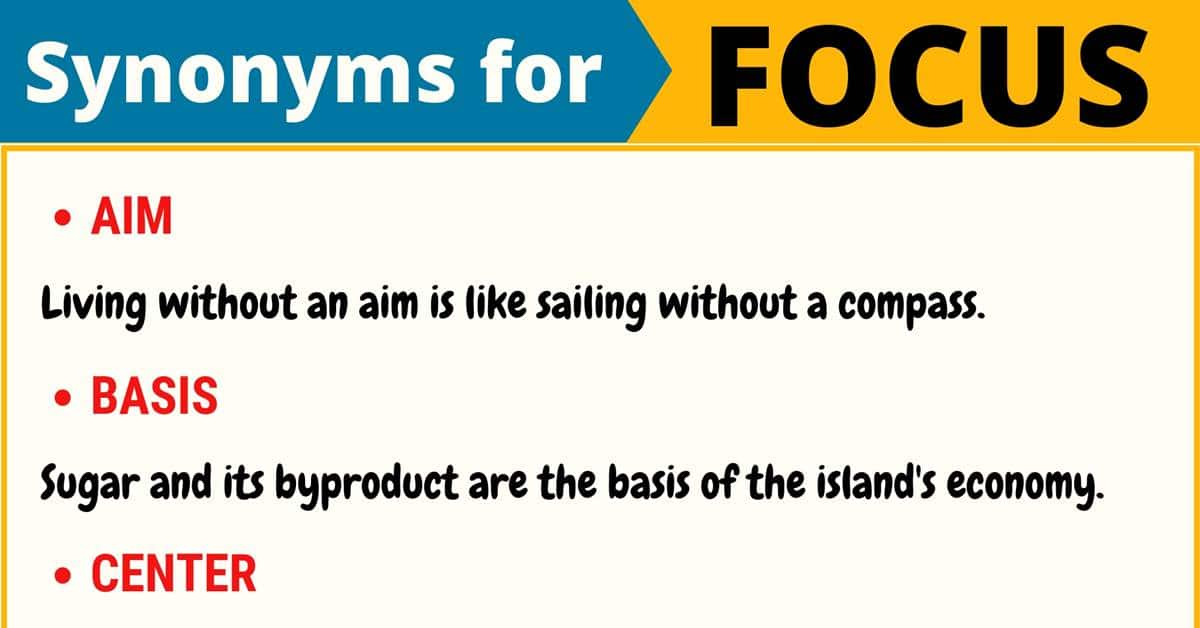 "Another Word for ""Focus"" 