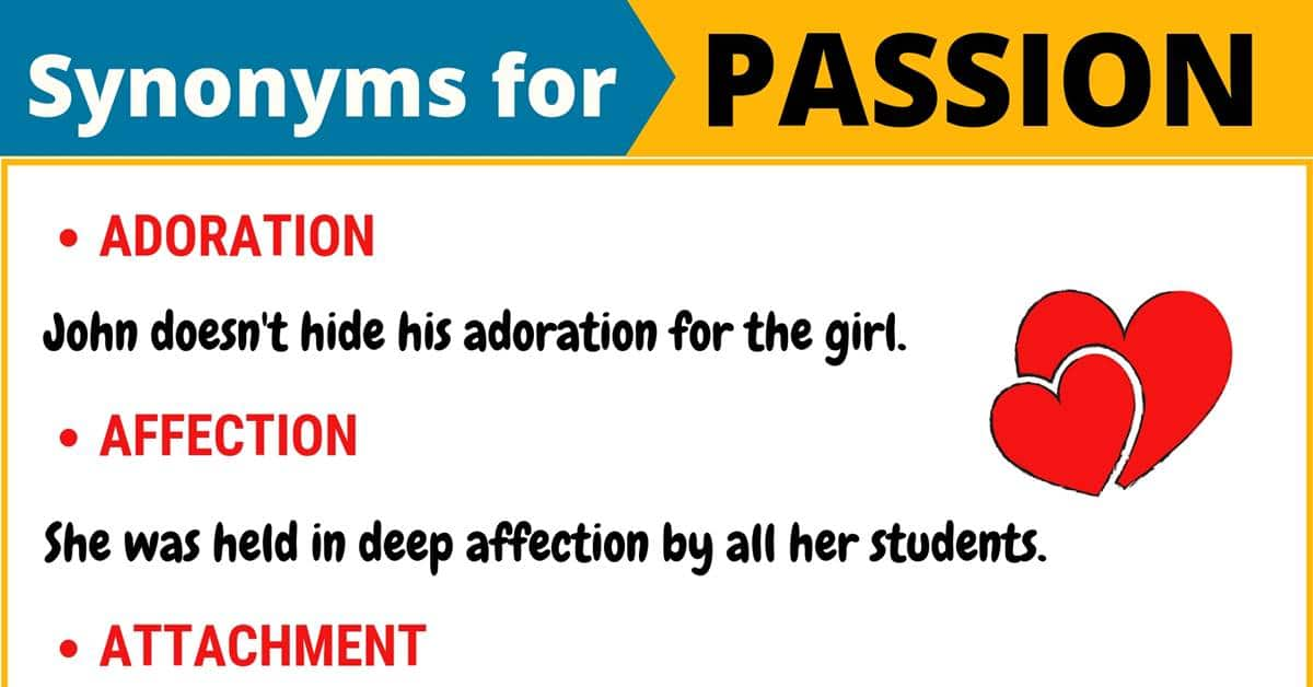 """Another Word for """"Passion"""" 