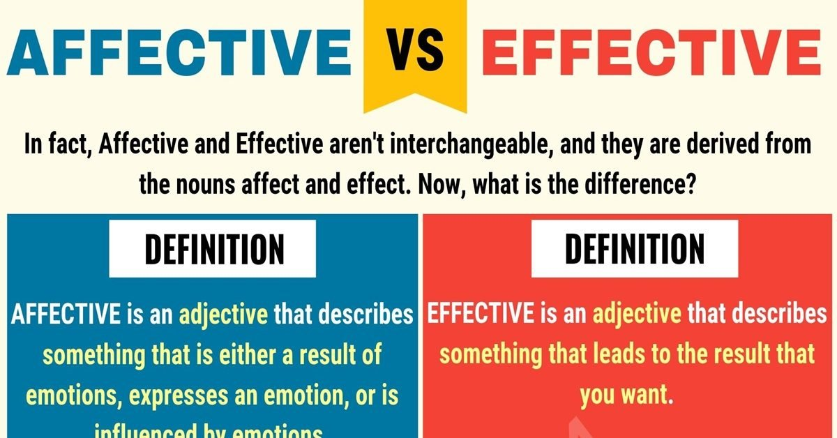 Affective vs Effective