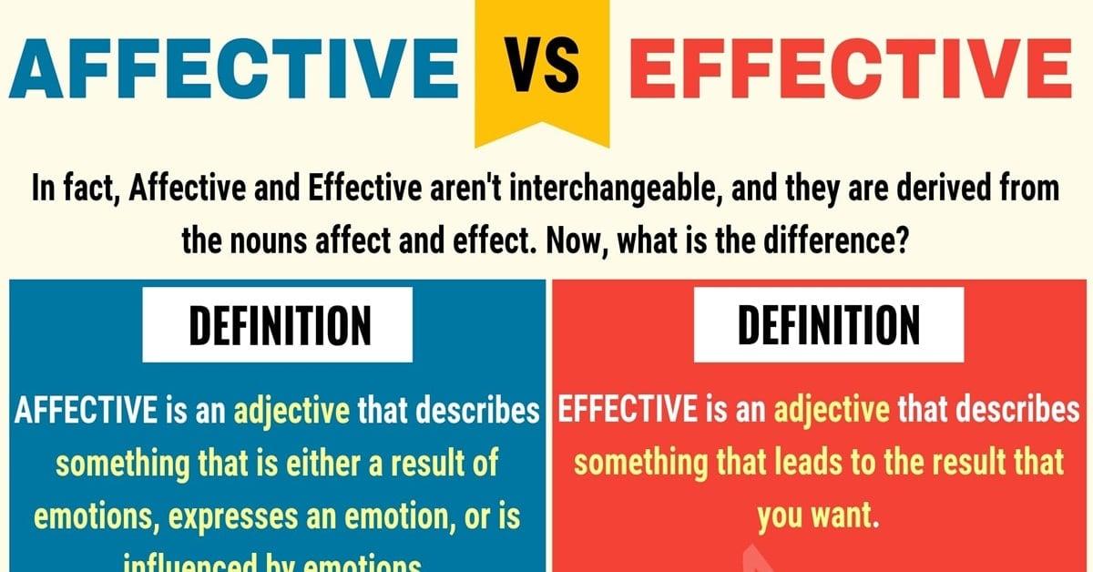 Affective vs Effective