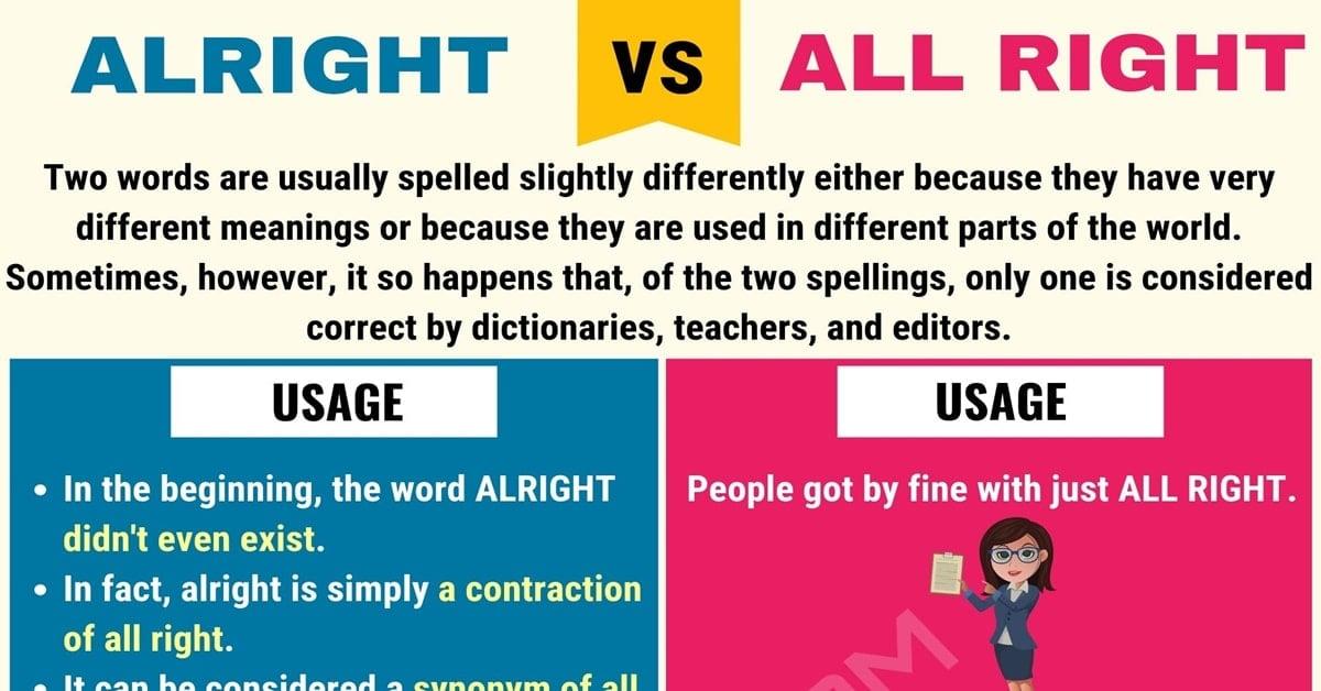 Alright vs. All Right