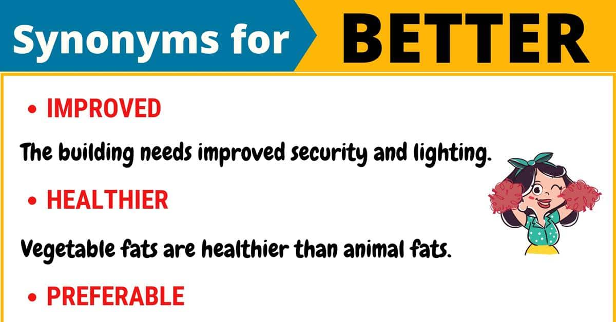 """Another Word for """"Better"""" 