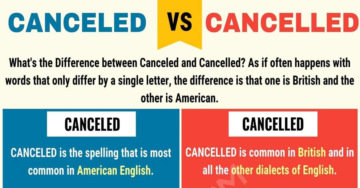Canceled or Cancelled