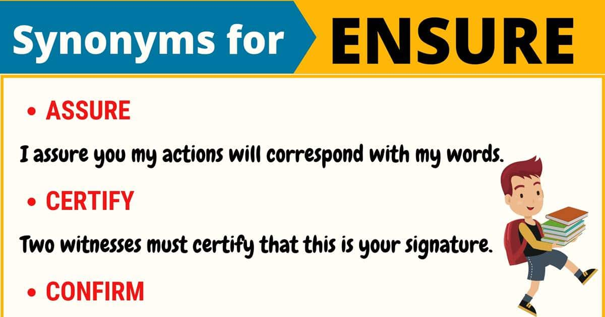 """Another Word for """"Ensure""""   List of 100+ Synonyms for Ensure 1"""