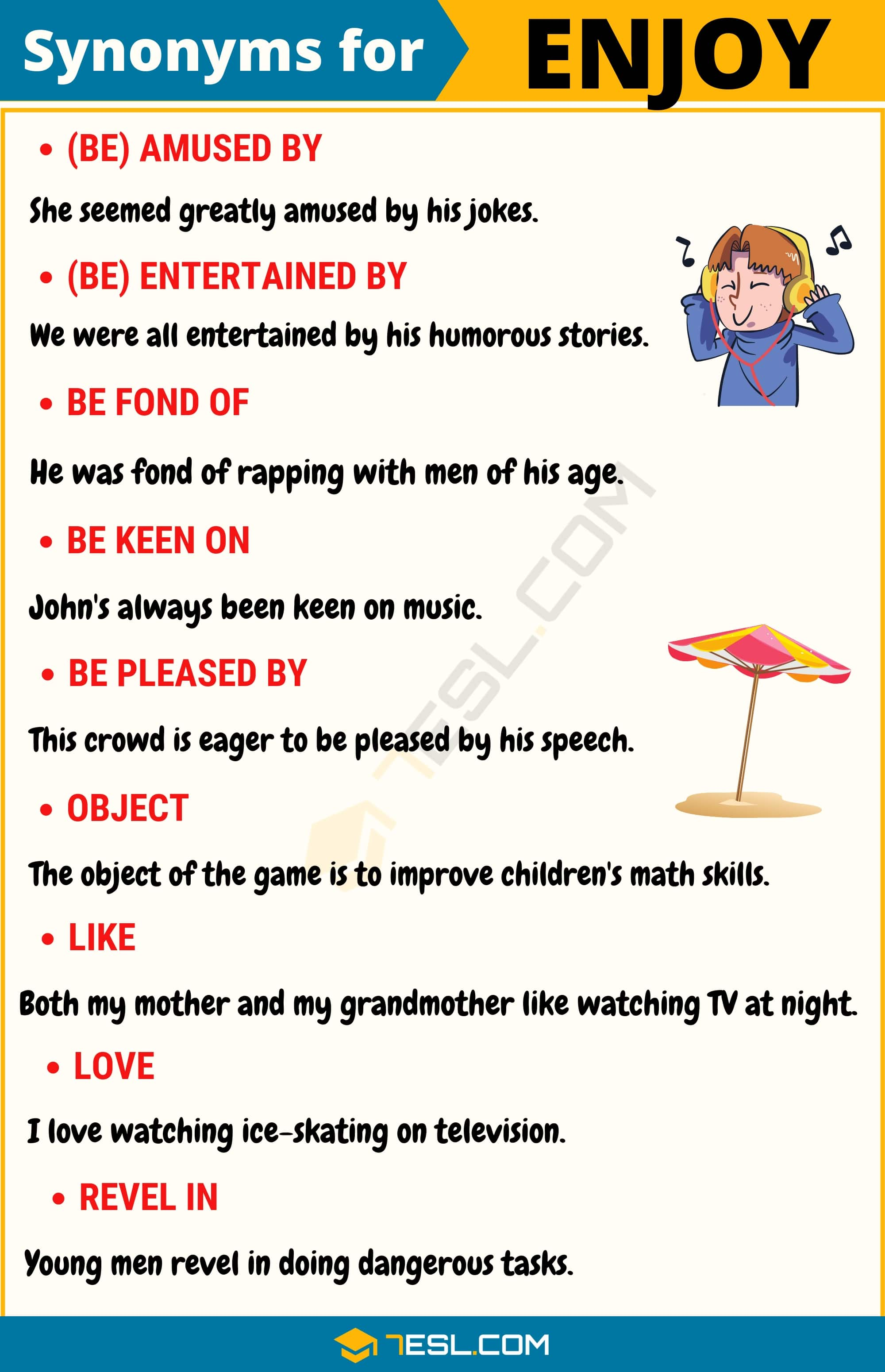 ENJOY Synonym: List of 14 Synonyms for Enjoy in English