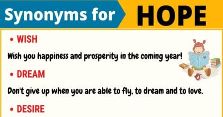 HOPE Synonym: 18 Synonyms for Hope with Useful Examples