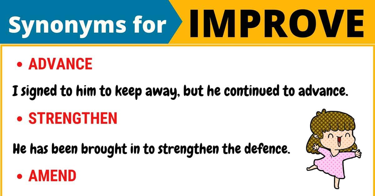"""Another Word for """"Improve"""" 