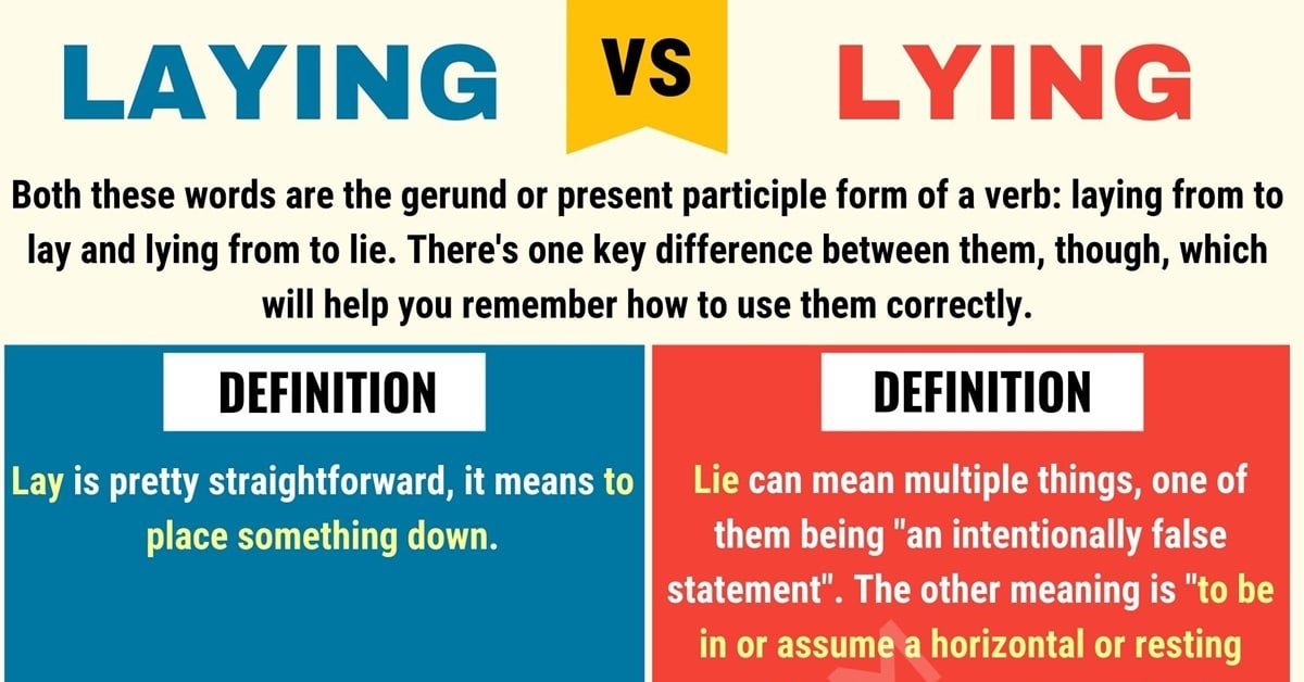 Laying vs. Lying