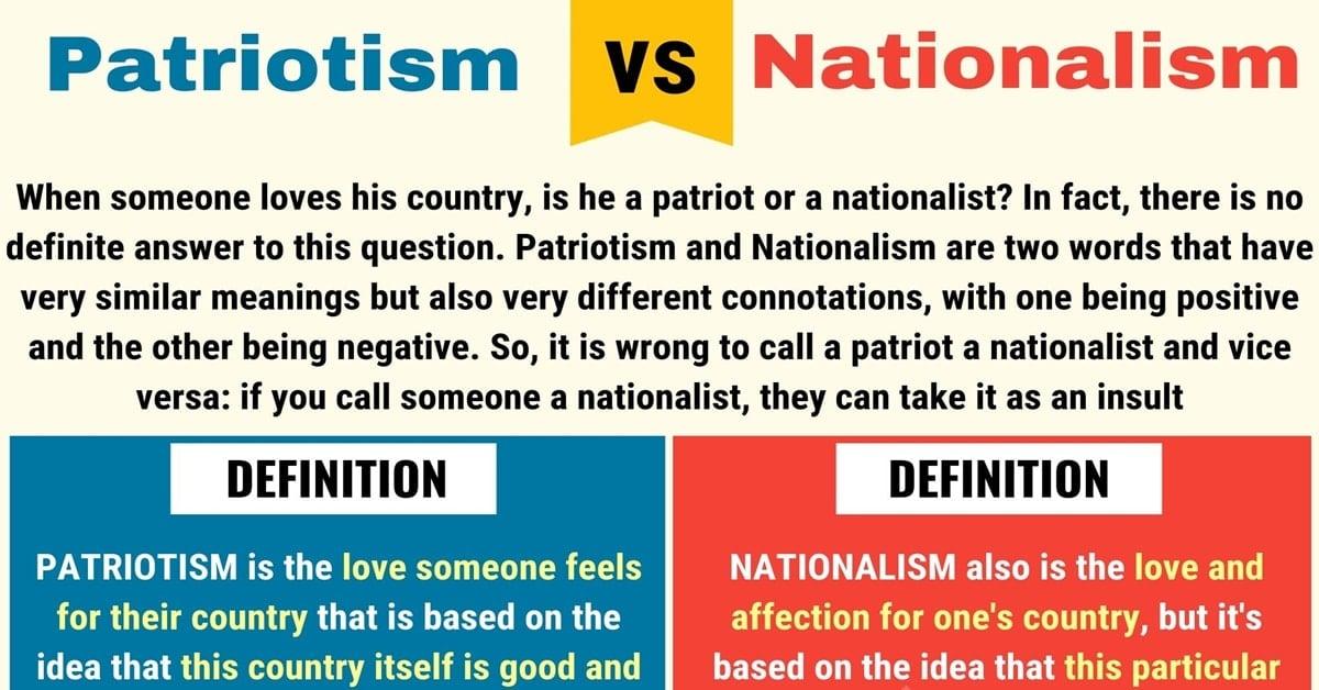 Nationalism vs. Patriotism