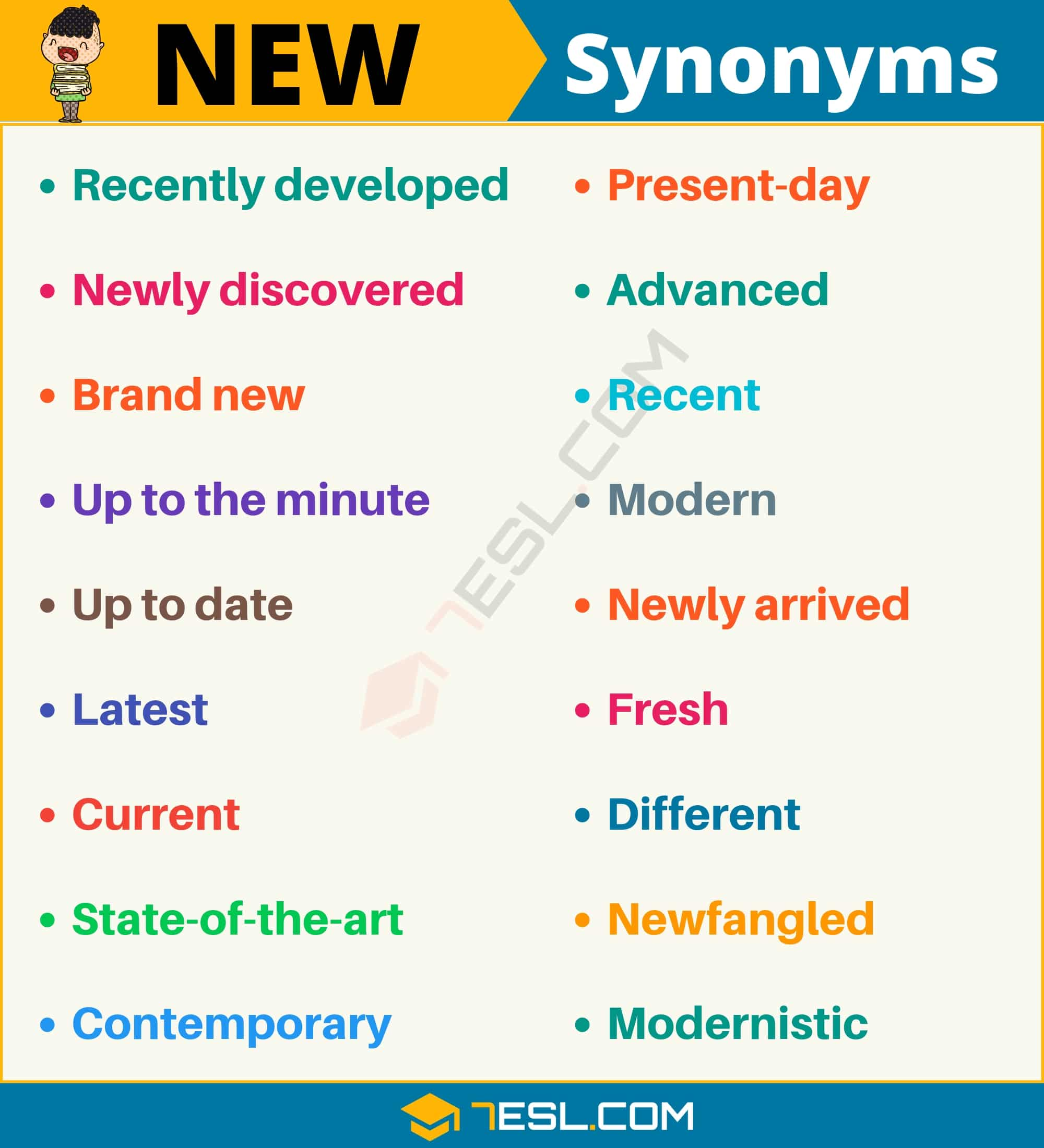 NEW Synonym: List of 18 Synonyms for New with Useful Examples