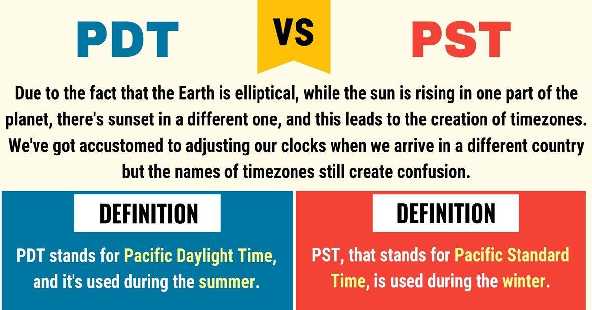 PDT vs PST