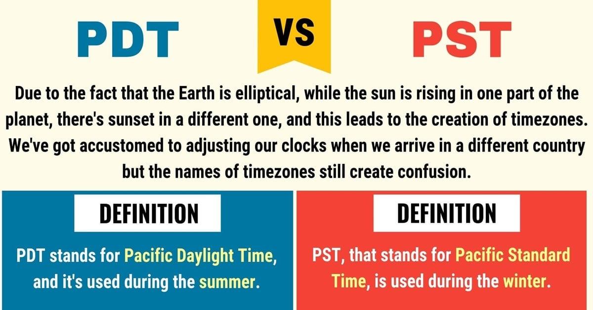 PDT vs. PST