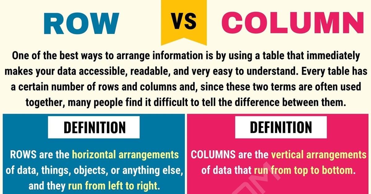 Row vs. Column