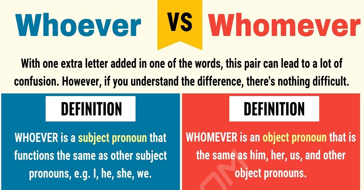 Whoever vs Whomever