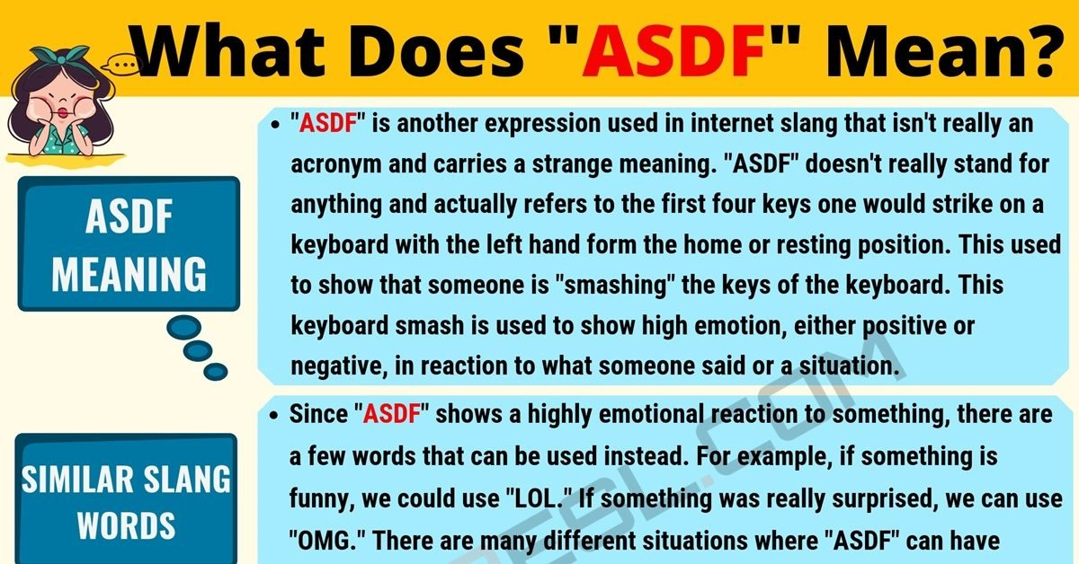 ASDF Meaning: What Does ASDF Mean? Useful Text Conversations 1