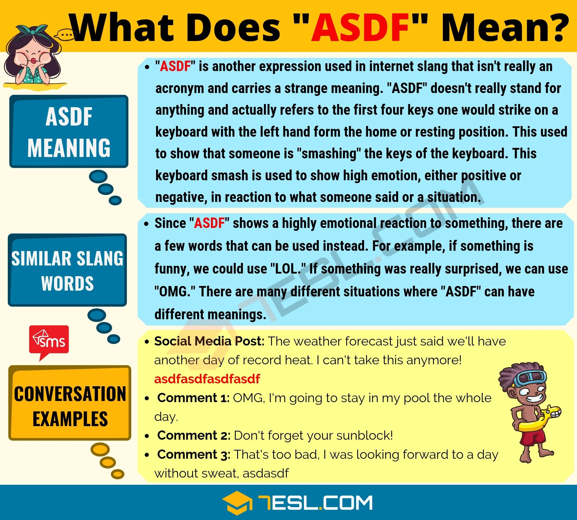 ASDF Meaning: What Does ASDF Mean? Useful Text Conversations