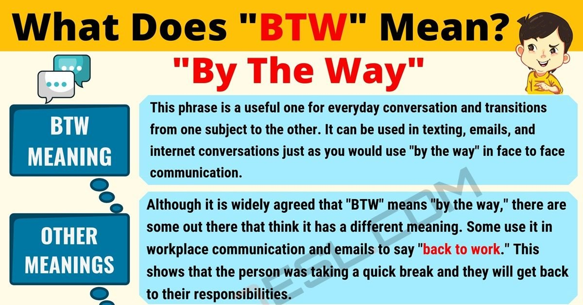 BTW Meaning: What Does BTW Mean? Useful Text Conversations 1