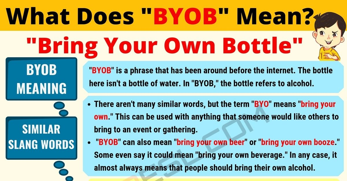 BYOB Meaning: What Does BYOB Mean? Useful Text Conversations 1