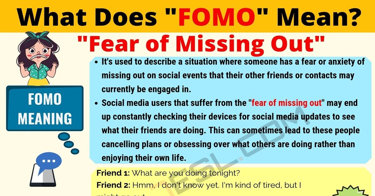 FOMO Meaning: What Does FOMO Mean? Useful Text Conversations 1