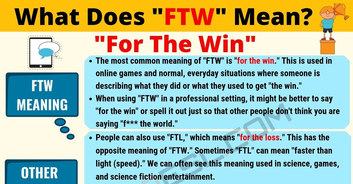 FTW Meaning: What Does FTW Mean? Useful Text Conversations 1