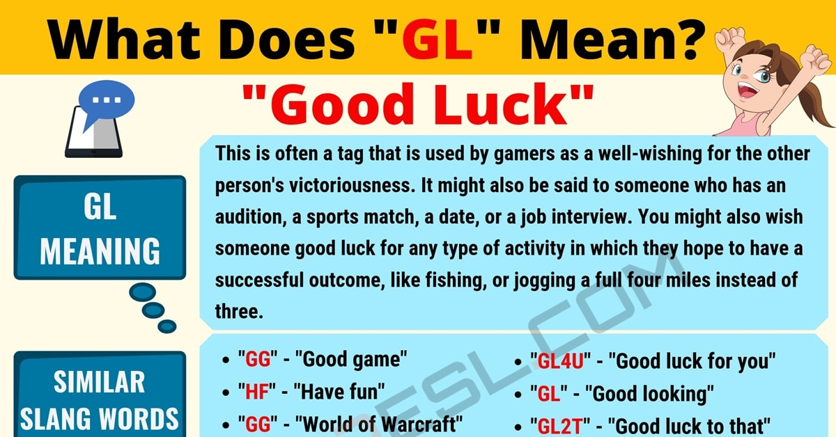 """""""GL"""" Meaning   What Does The Polular Acronym """"GL"""" Stand For? 1"""