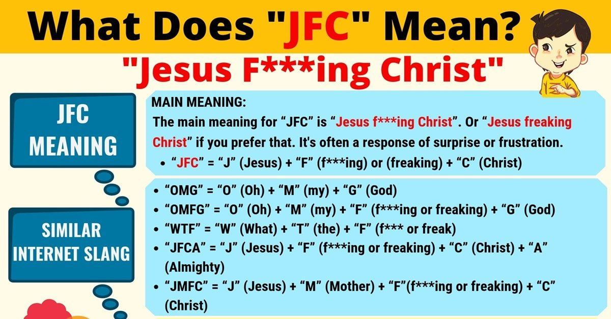 JFC Meaning: What Does JFC Mean? Useful Text Conversations 1