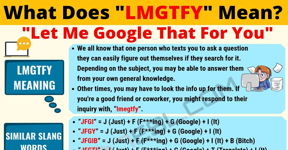 LMGTFY Meaning: What Does LMGTFY Mean? Useful Text Conversations 1