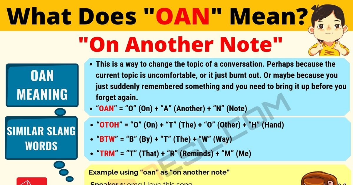 OAN Meaning: What Does OAN Mean? Useful Text Conversations 1