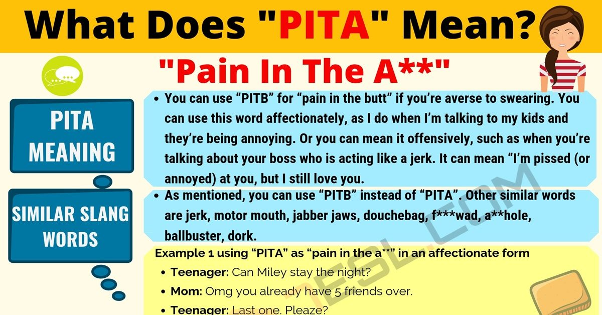 PITA Meaning: What Does PITA Mean? Useful Text Conversations 11