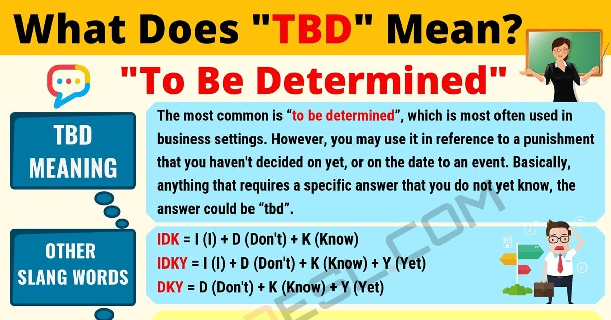 TBD Meaning: What Does TBD Mean? Useful Text Conversations 1