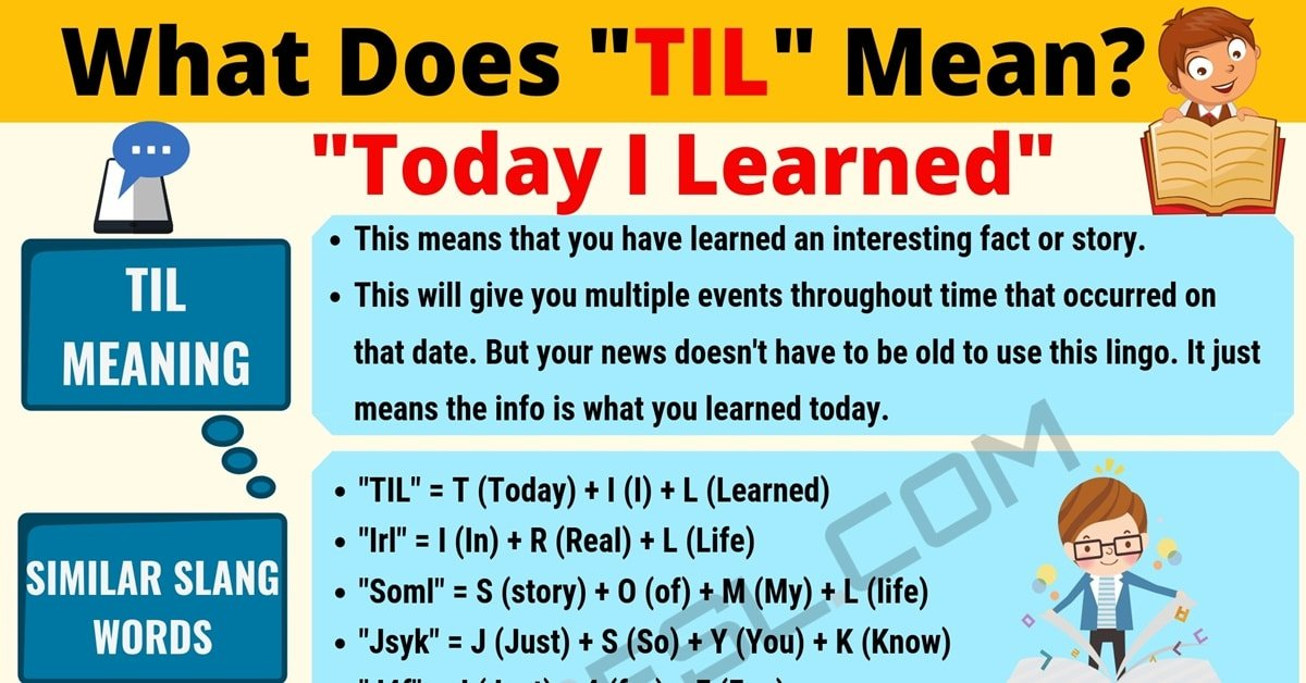 """""""TIL"""" Meaning 