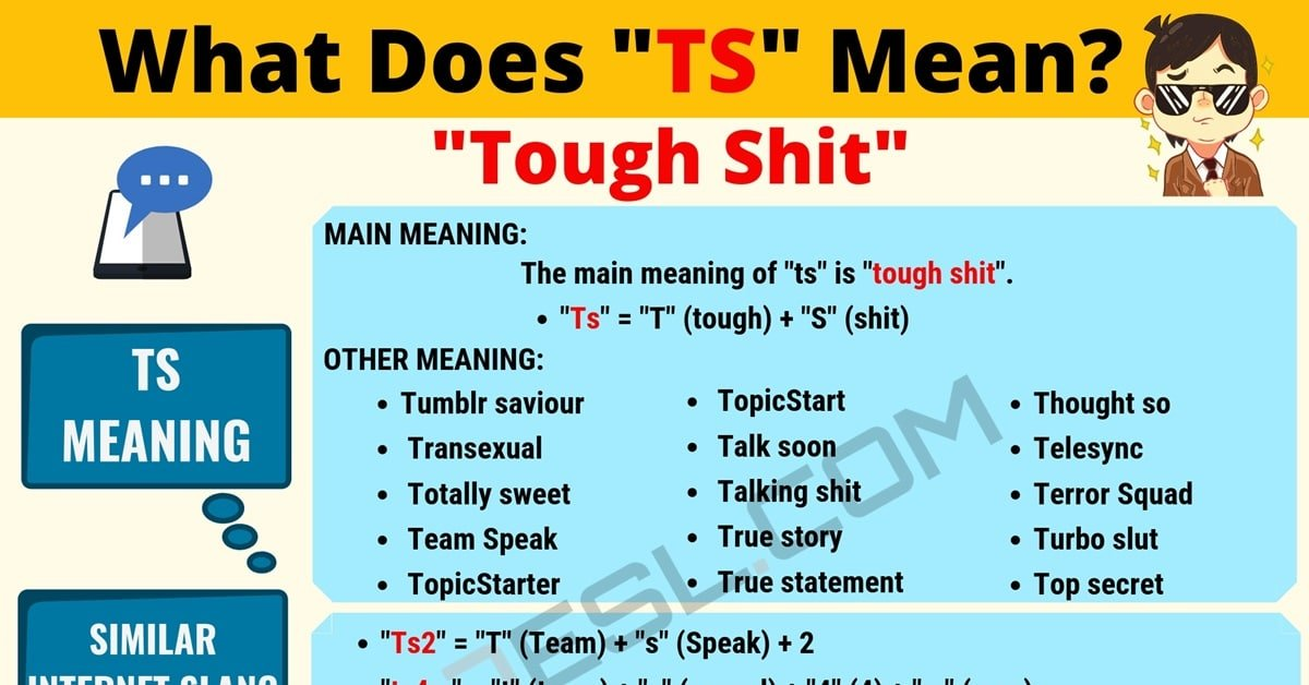 TS Meaning: What Does TS Mean and Stand for? 1