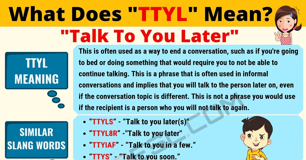 TTYL Meaning: What Does TTYL Mean? Useful Text Conversations 1