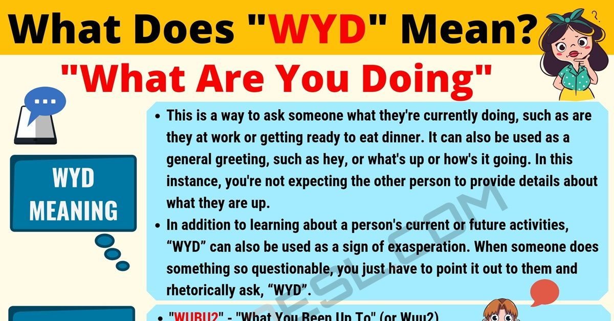 WYD Meaning: What Does WYD Mean? Useful Text Conversations 1