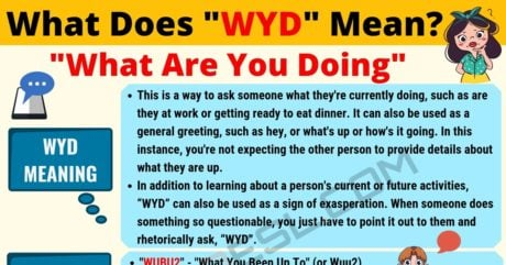 WYD Meaning: What Does WYD Mean? Useful Text Conversations