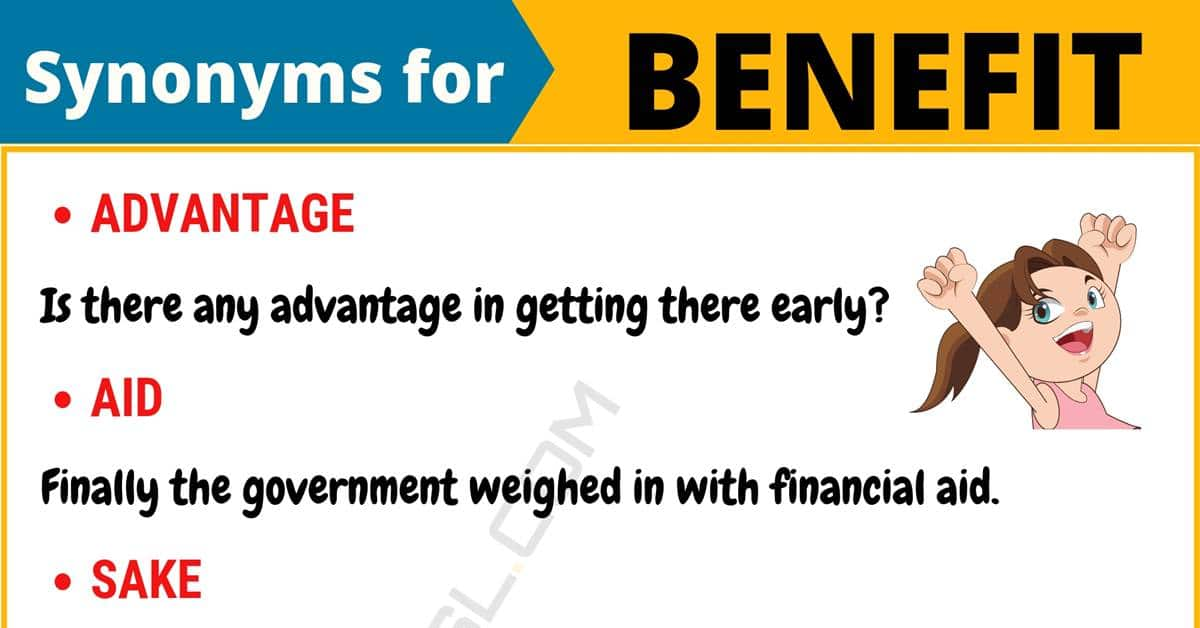 """Another Word for """"Benefit"""" 