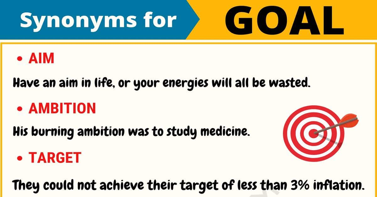 Goal Synonym List Of 100 Synonyms For Goal With Useful Examples 7 E S L