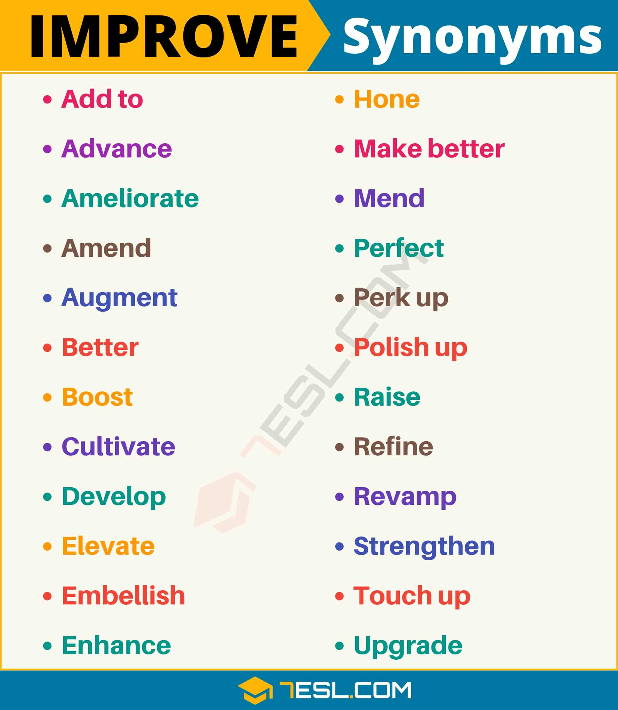 "Another Word for Improve | 100+ Synonyms for ""Improve"" with Useful Examples"