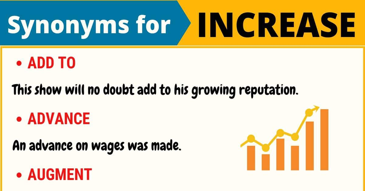 """Another Word for """"Increase"""" 